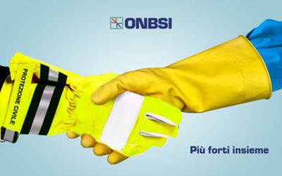 ONBSI al fianco della Protezione Civile Italiana e del Settore Pulizie/Multiservizi